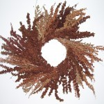 dock seed stalk wreath
