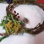 third bunch of herbs on wreath base